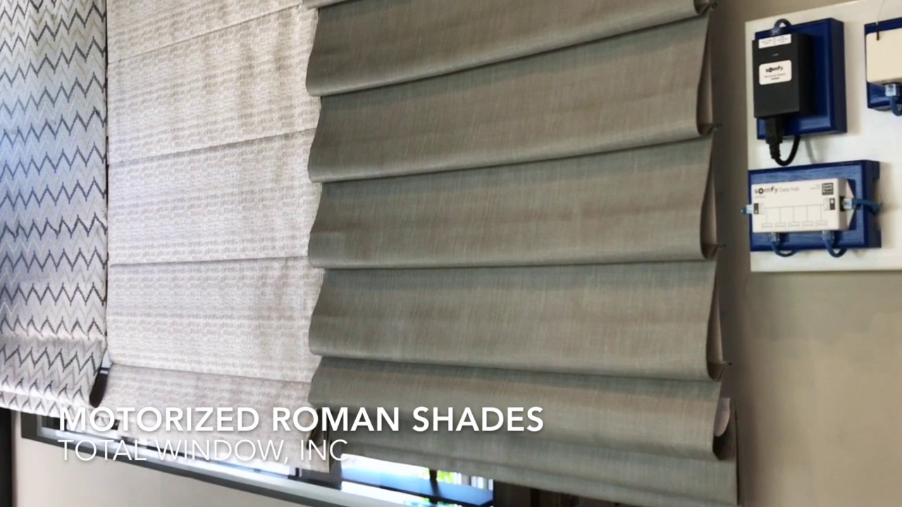 Motorized Roman Shades On The Somfy Sdn Network Youtube
