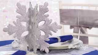 Glitter Snowflake Centerpiece - Shindigz Party Supplies