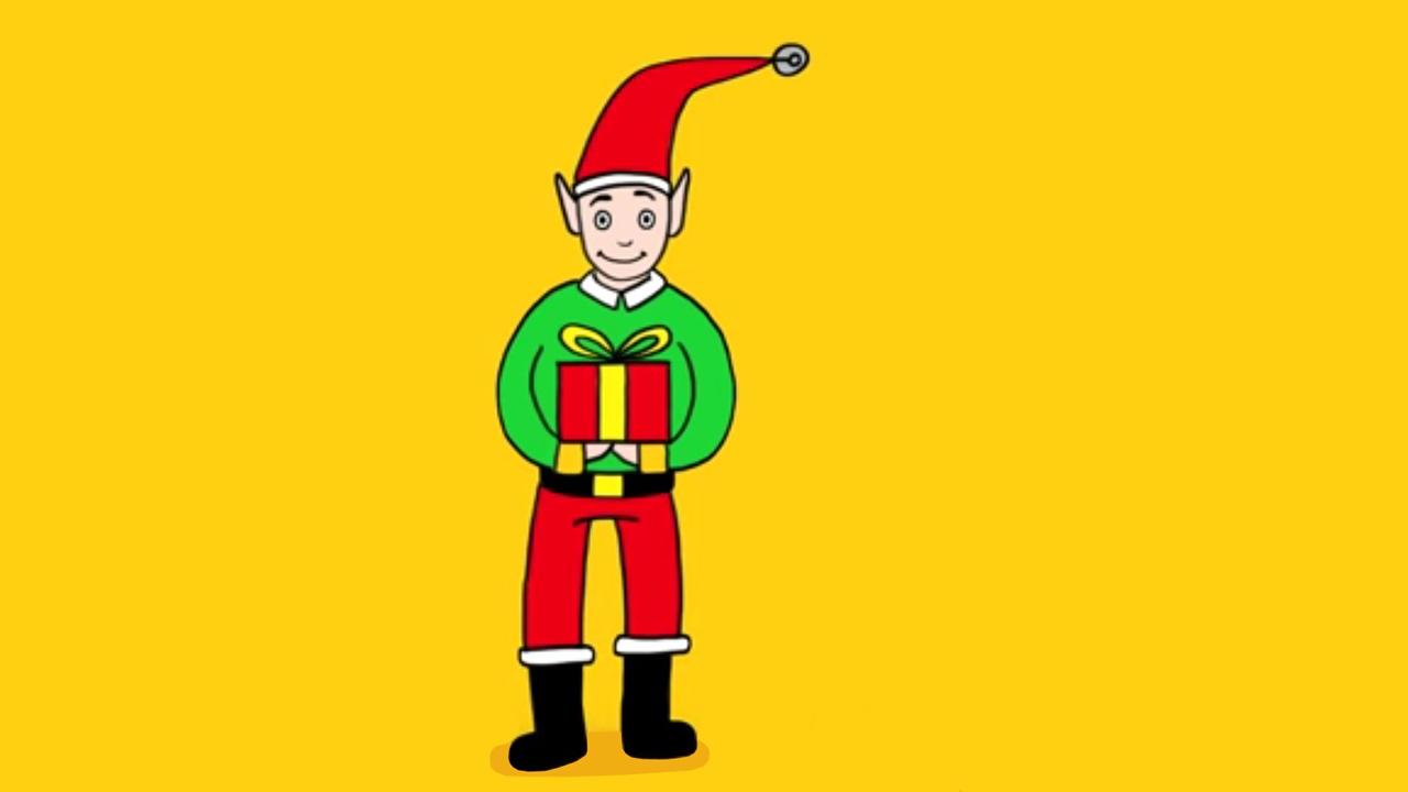 Apprendre à Dessiner Un Lutin De Noël