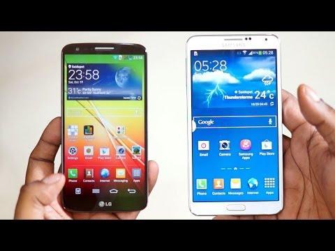 Samsung Galaxy Note 3 vs LG G2 Comparison