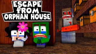 Monster School : Escape from the Orphan House of EVIL GRANNY ( Touching Story )