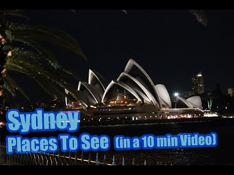 Best Places To See in SYDNEY Australia (in a 10 minutes video) Cool Travel Tips Guide Must See