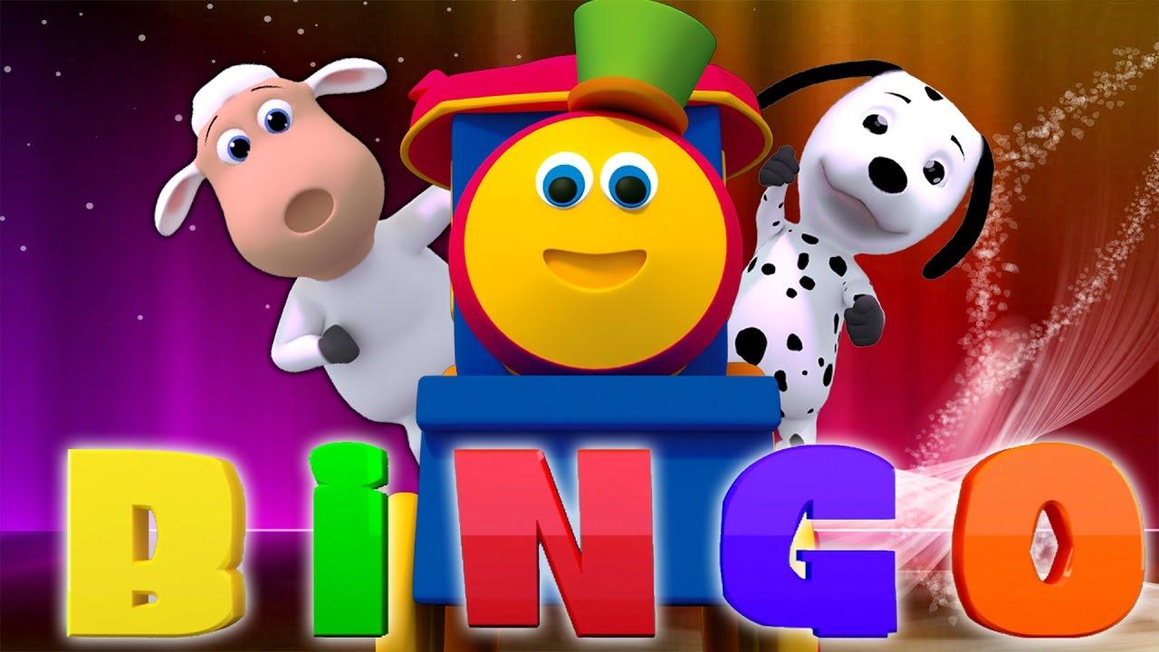bob le train bingo le chien chanson rime pour enfants baby rhymes bingo the dog song. Black Bedroom Furniture Sets. Home Design Ideas