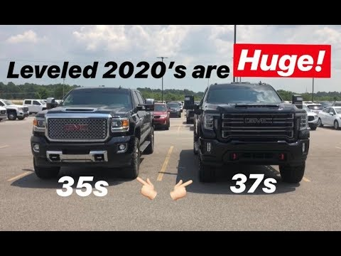 Stuffed 37s on 2020 Duramax! - YouTube