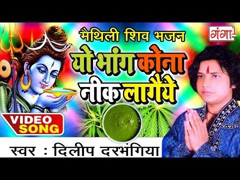 यो भांग कोना नीक लागैये - Dilip Darbhangiya Shiv Bhajan | Maithili Shiv Bhajan 2017 |