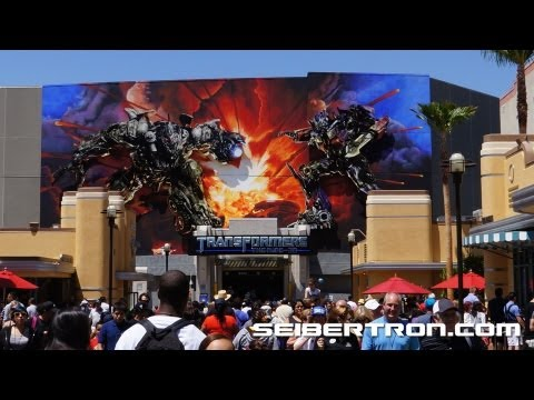 Transformers The Ride 3D entrance video walk through by Seibertron.com - Universal Studios Hollywood