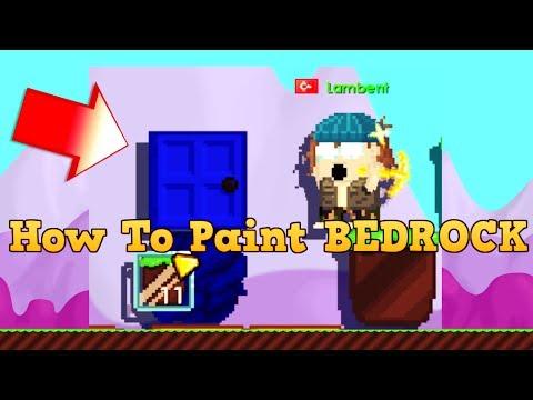 GrowTopia - How To Paint BEDROCK !