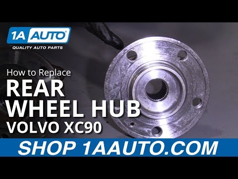 How to Replace Rear Wheel Hub 03-11 Volvo XC90