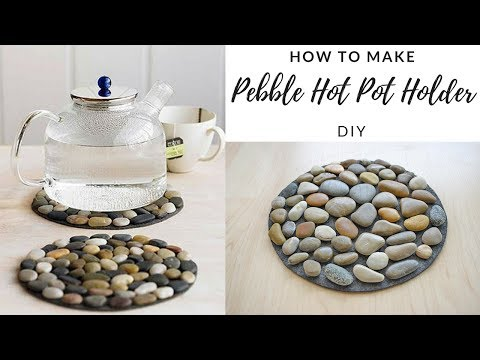DIY - How To Make Pebble Hot Pot Holder - Stone Mat - EASY TUTORIAL