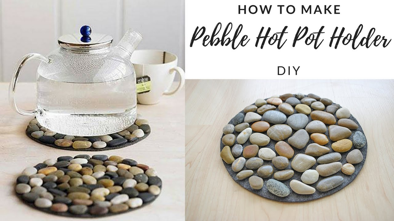 Diy How To Make Pebble Hot Pot Holder Stone Mat Easy