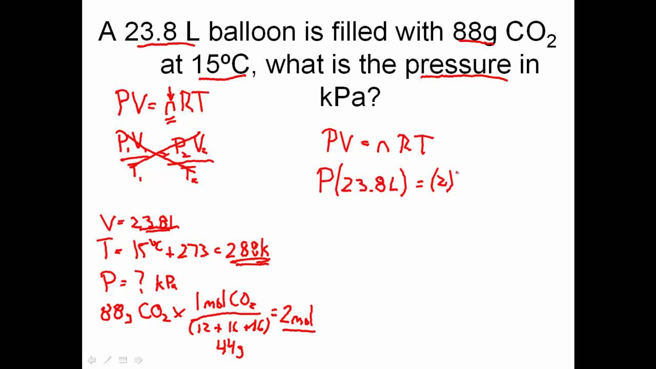 Ideal Gas Law Practice Problems How To Solve Ideal Gas Law