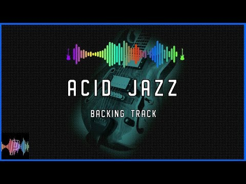 Acid Jazz Funk Guitar Backing Track Jam in B Dorian