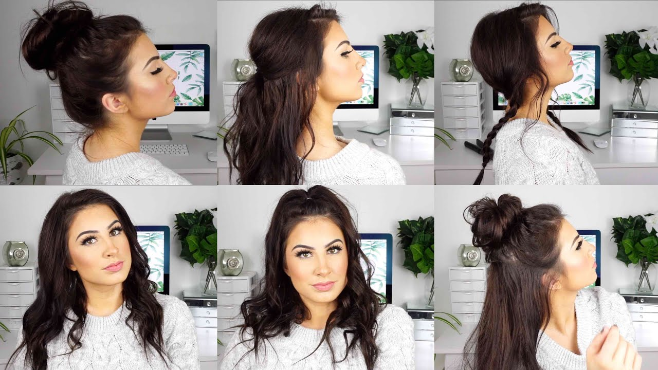 CUTE AND EASY HAIRSTYLES for MEDIUM THIN HAIR - YouTube