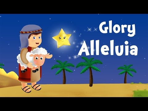 Glory Hallelujah (christmas song for kids with lyrics to learn French)