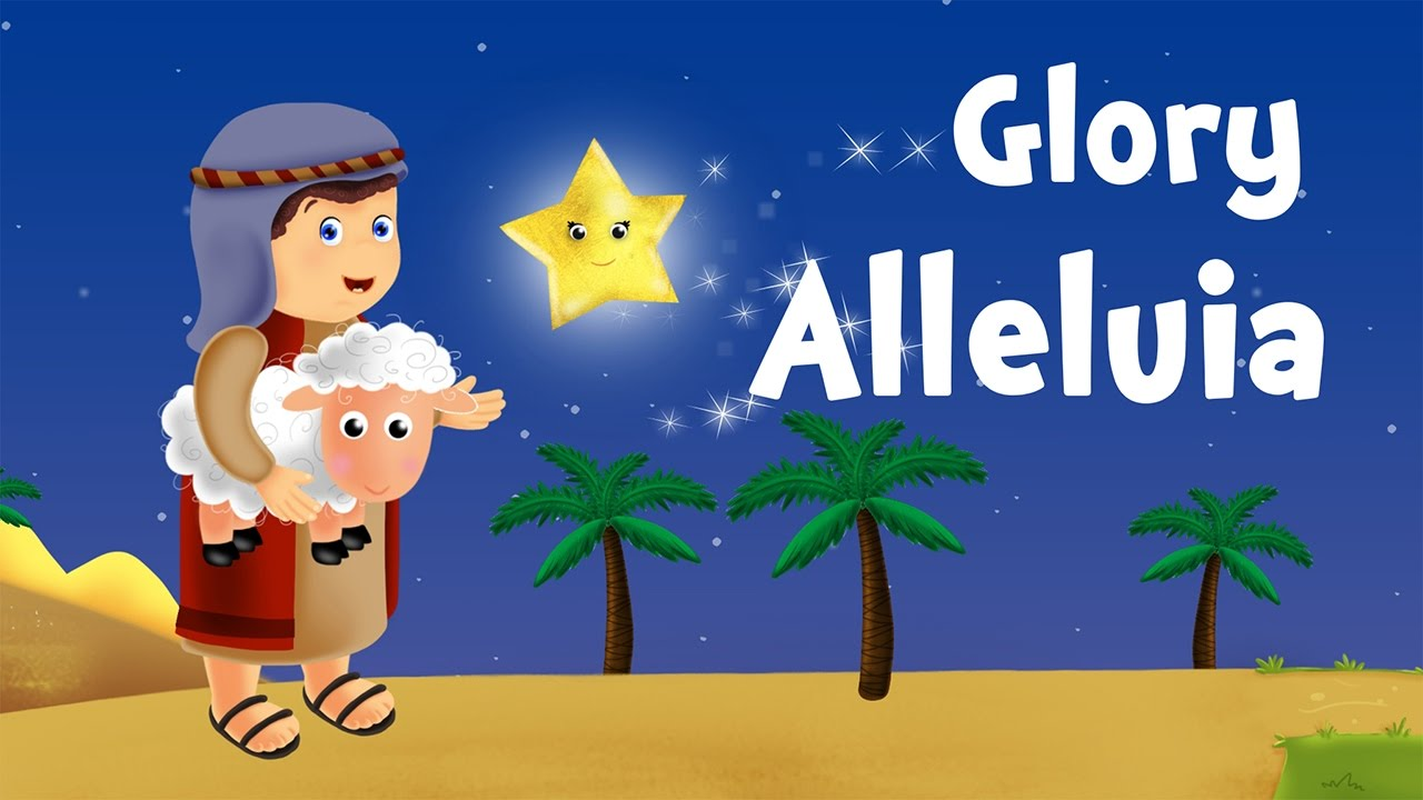 Glory Hallelujah (christmas song for kids with lyrics to learn French) - YouTube