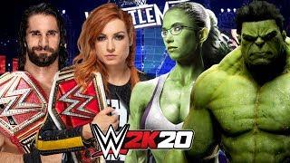 *WWE 2K20* SETH ROLLINS & BECKY LYNCH vs HULK & SHE-HULK
