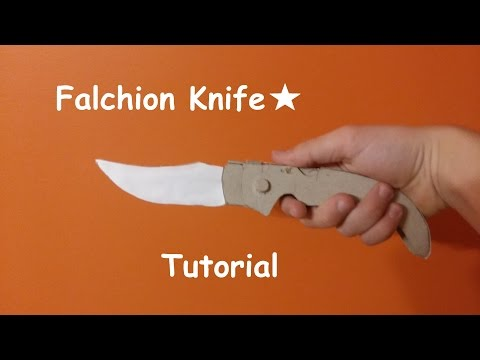 Paper falchion knife from CS:GO (Tutorial)