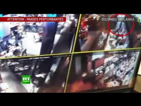 Sri Lanka : des kamikazes présumés filmés par des  caméras de surveillance
