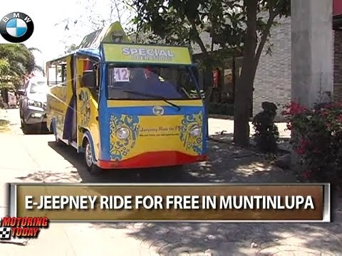 E-Jeepney Ride For Free in Muntinlupa   Motoring News