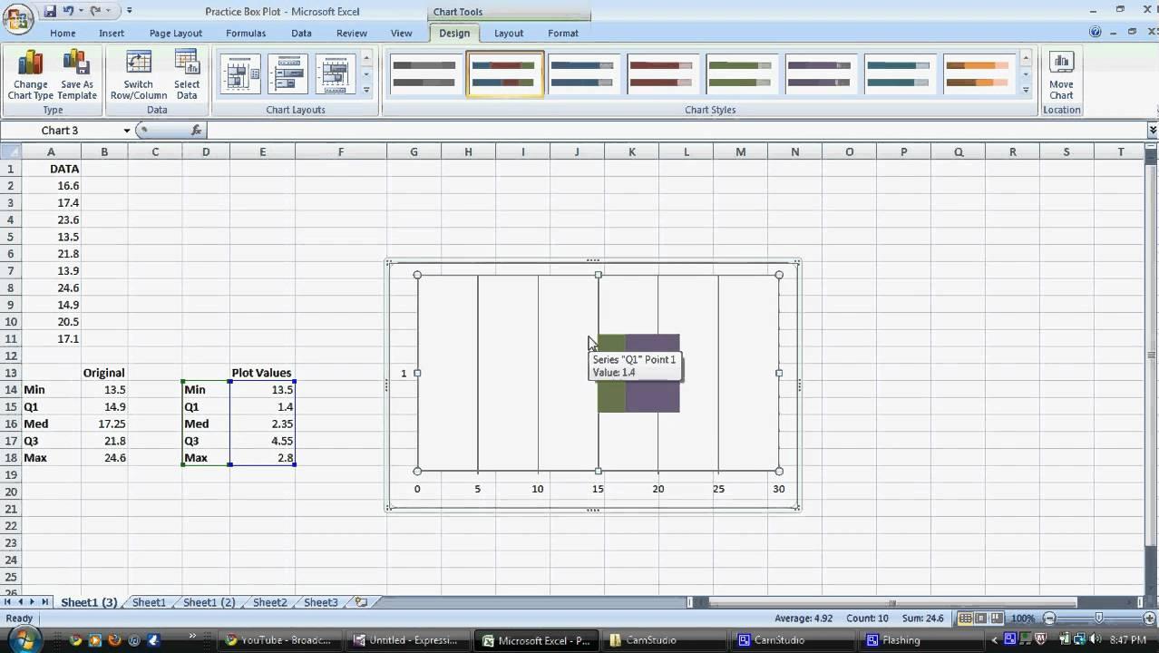 medium resolution of construct a box plot on microsoft excel 2007