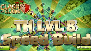 Clash Of Clans - BEST Town Hall Level 8 Base Layout - Speed Build