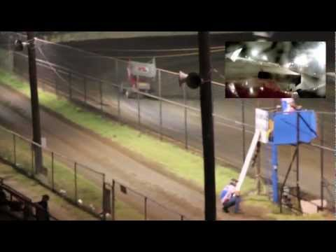 TAKE A RIDE WITH DEREK SILVERS 305 SPRINT CAR GOPRO AT COWTOWN SPEEDWAY