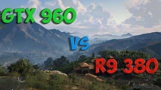 r9 380 vs gtx 960 test in 5 games i5 4690k