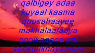 qalbi by gadavi lyrics