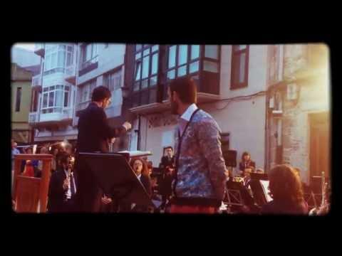 Leo Kch con la Banda de la escuela de música de Cee, 15/08/16