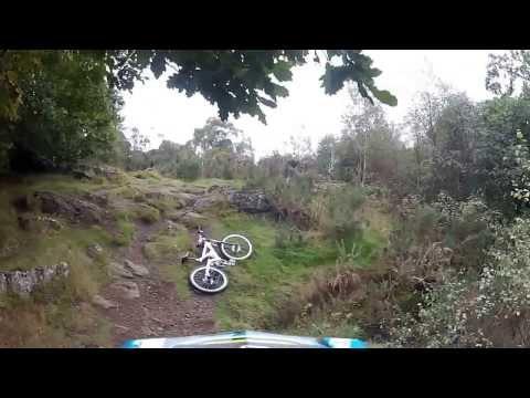 Corstorphine Hill Rocky Drop Falls Downhill GOPRO HERO HD 2