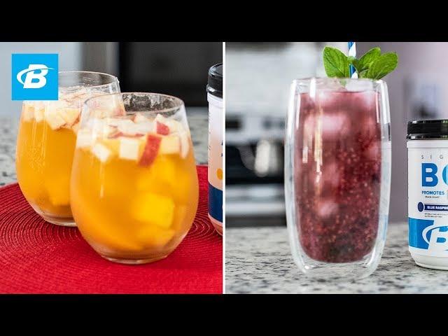 Raspberry-Lemon Mojito & Peach-Mango Sangria   Quick Recipes [YouTube 動画] クリックで動画がスタンバイされ、もう1回クリックすると再生します