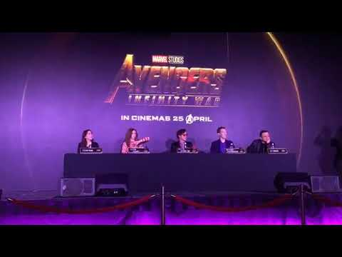 Avengers Infinity War Singapore press conference
