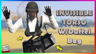 *Female* Invsible Torso W/Duffel Bag Outfit Glitch (No Transfer) (GTA Online)