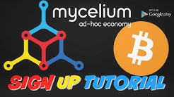 Mycelium Cryptocurrency Digital Wallet Sign Up and Getting Started Tutorial For Beginners 2018