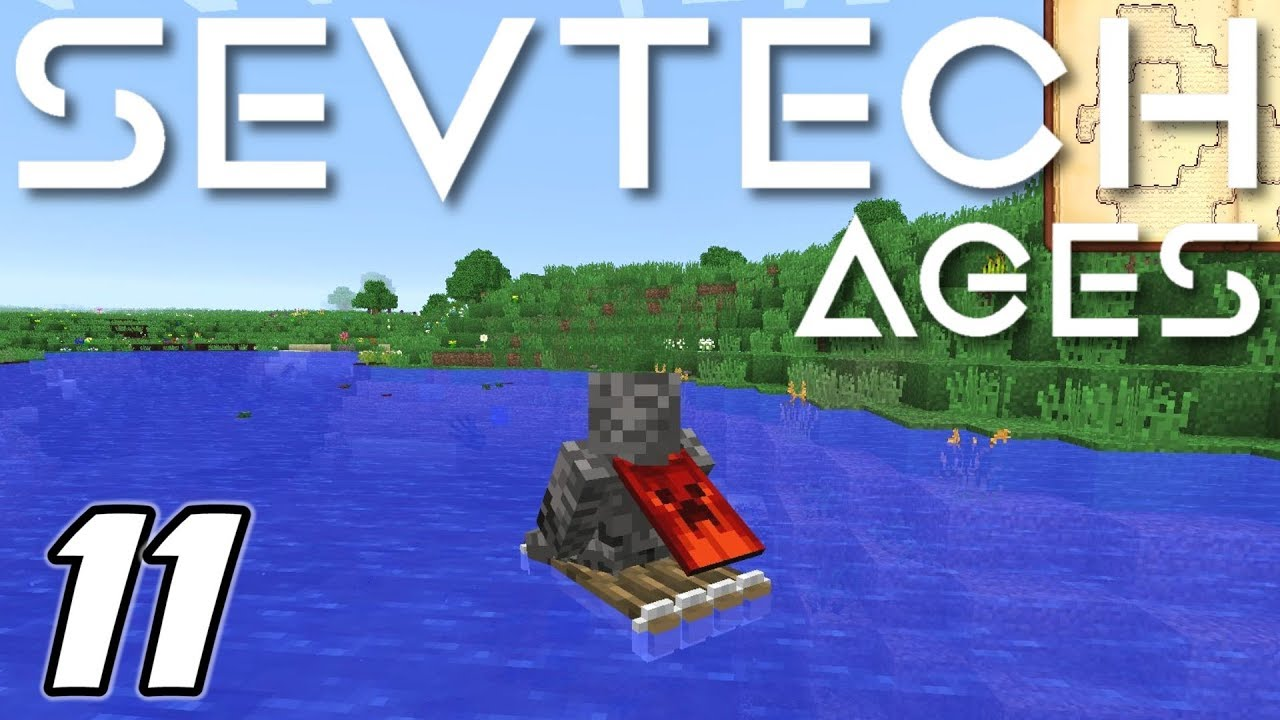 Minecraft Sevtech: Ages - RAFTING, PAN'S FLUTE and PARROTS! (Modded  Survival) - Ep  11