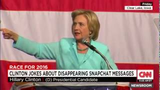 CNN News August 16 2015 Clinton jokes about email scandal