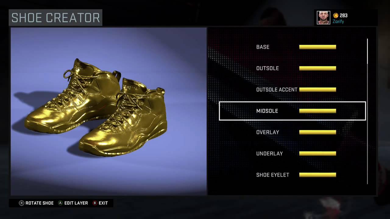 0f716f1456e52d NBA 2K16 Shoe Creator - Air Jordan 10 PE