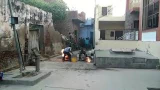 Indane Gas Cylinder Fire At Kher Uttar Pradesh