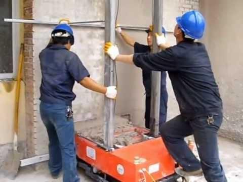 Машина для штукатурки стен цементным раствором строительство бетон москва