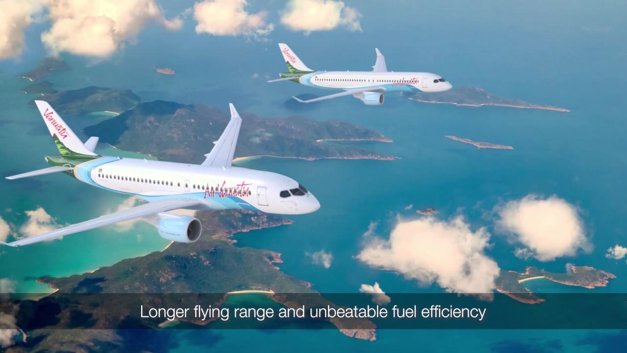 Resultado de imagen para air vanuatu Airbus A220