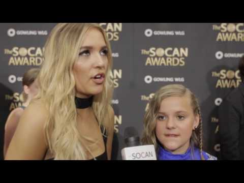 SOCAN Awards 2016 Interview: Lennon & Maisy