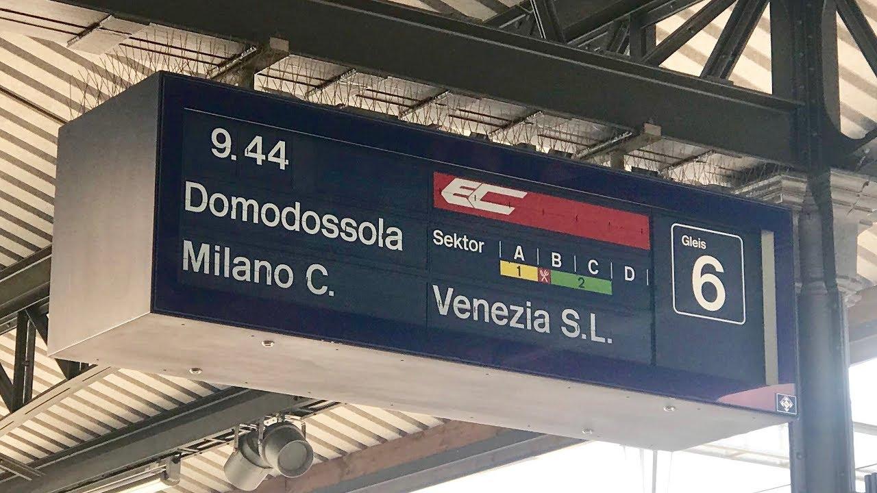 SBB Ansage EC Venezia Santa Lucia über Mailand auf Deutsch, Italienisch und  Englisch