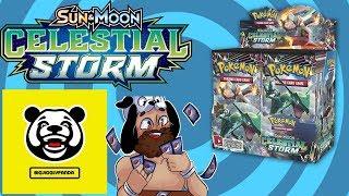 Opening a Pokemon Celestial Storm Booster Box with BigJigglyPanda!