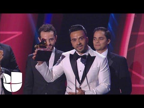 """""""Eres grande, Daddy Yankee"""": Luis Fonsi tras recibir el Latin GRAMMY por 'Despacito'"""