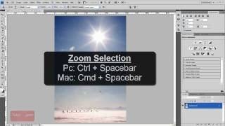Zoom In / Out Shortcuts - Photoshop Tutorial [60 Seconds]