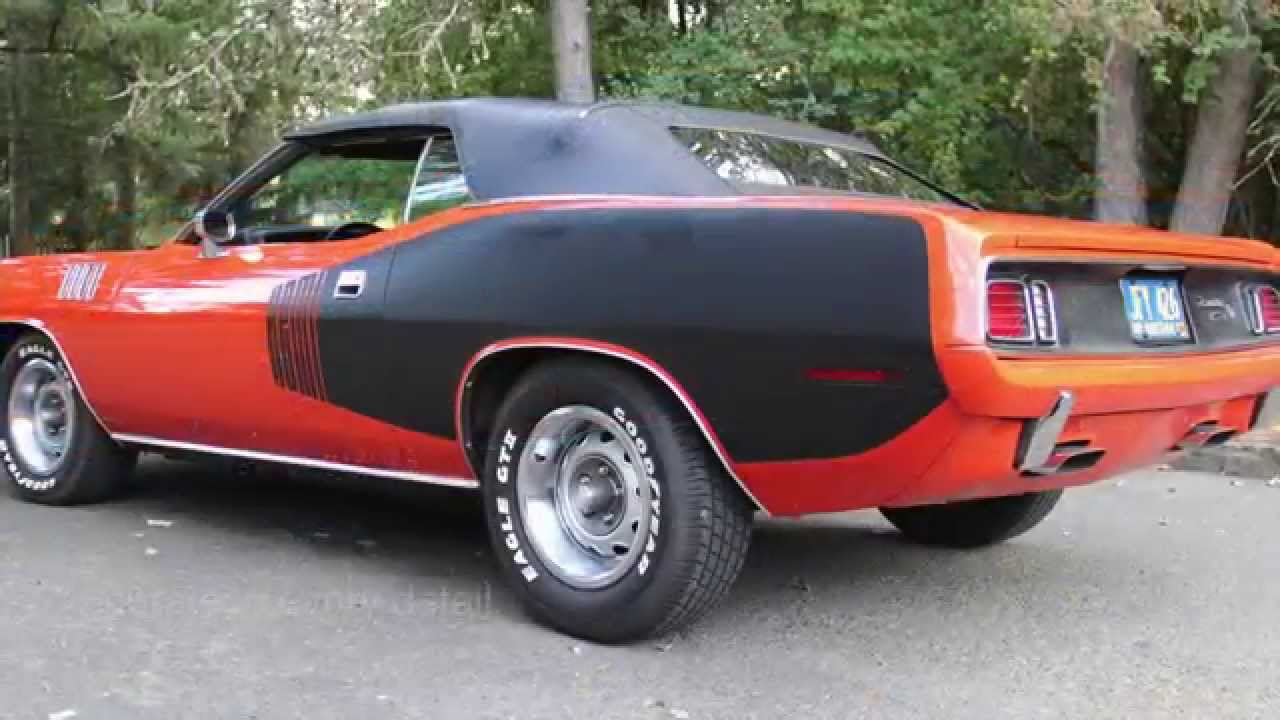 1971 Plymouth Hemi Cuda Convertible Www Charvetcliccars Com You