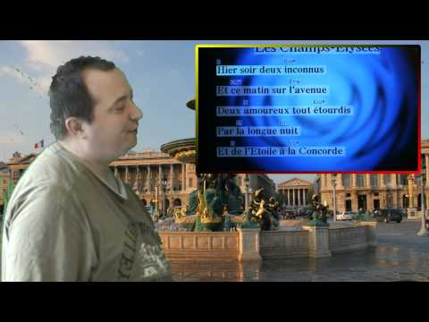 Aux Champs Élysées - Joe Dassin - With Karaoke text.Sung and video edit by Ronald.