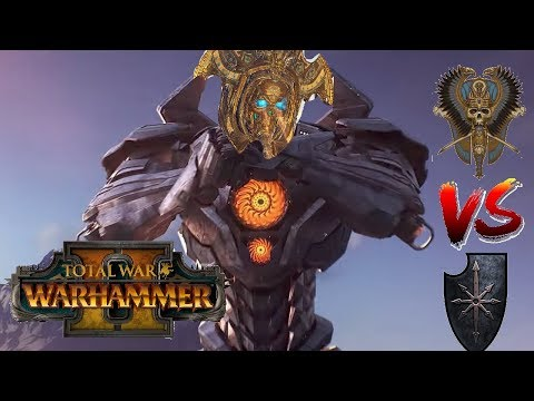 Tomb Kings vs Chaos | RELEASE THE TITAN - Total War Warhammer 2