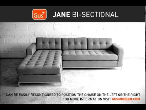 Gus Modern Jane Bi Sectional Demo  sc 1 st  YouTube : gus jane bi sectional - Sectionals, Sofas & Couches