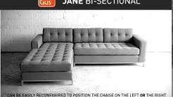 Gus Modern   Jane Bi Sectional Demo